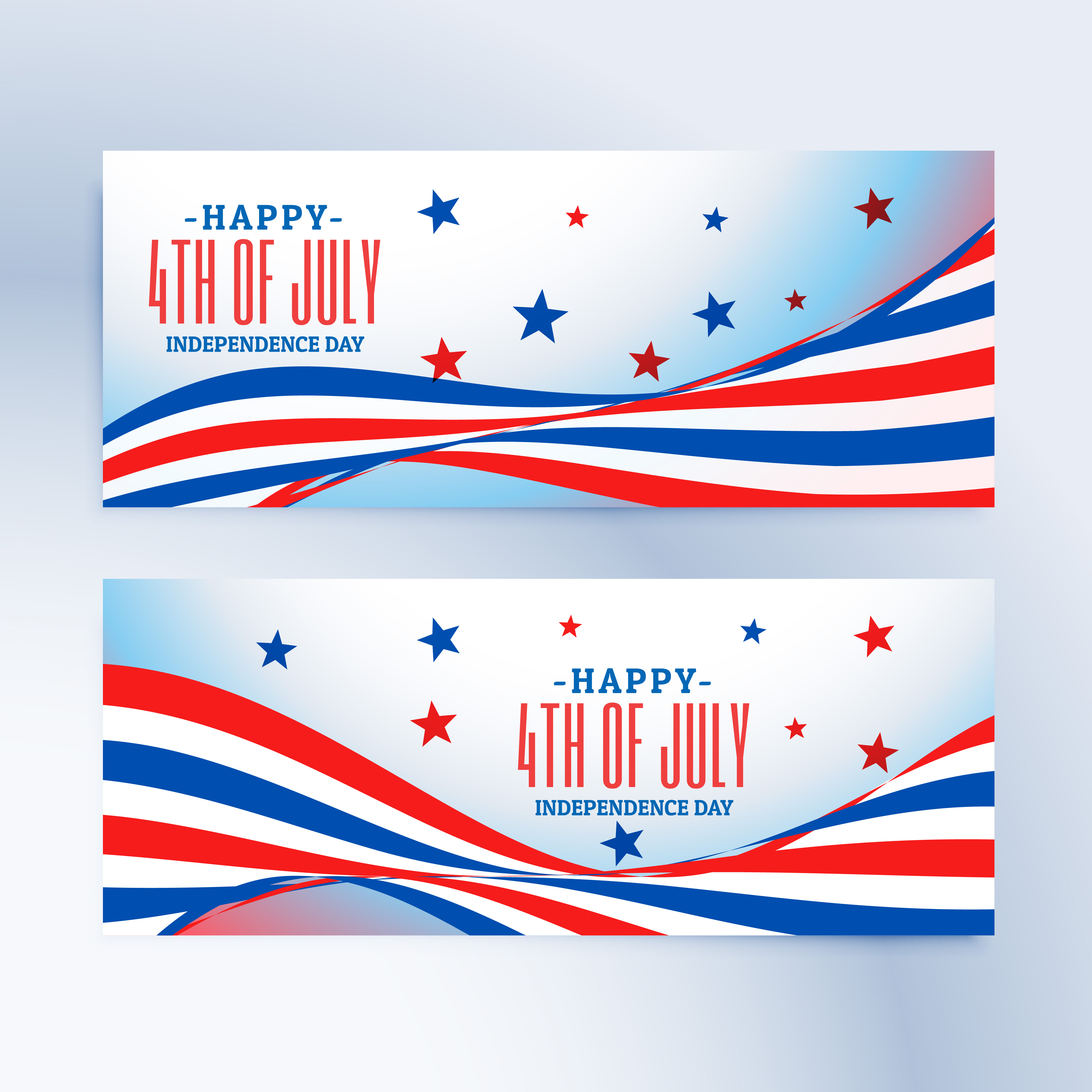 4th of july banners set - Download Free Vector Art, Stock ...