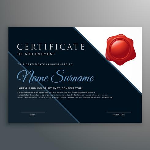 modern certificate of achievement design