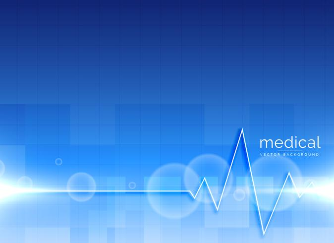 vector medical background with heartbeat line