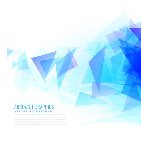abstract blue triangle shapes bursting from right side