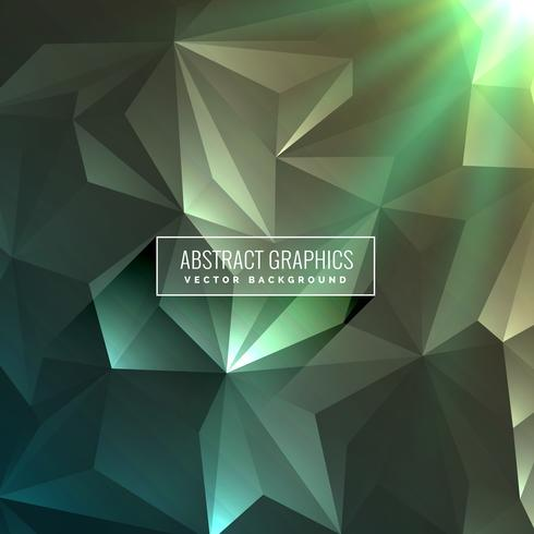 abstract low poly triangle background in green color