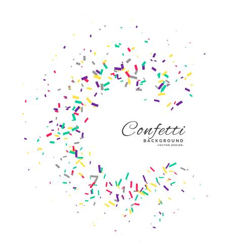 confetti frame vector celebration background