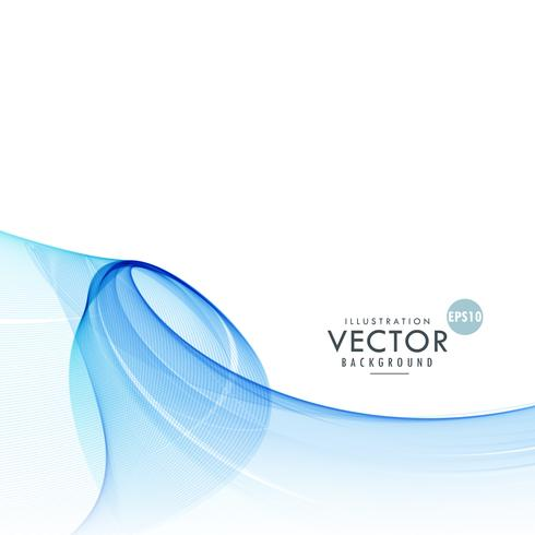 awesome abstract blue wave vector background
