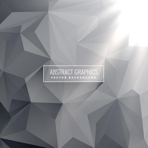 abstract gray triangle background vector design