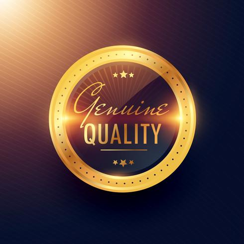 genuine quality premium gold label and badge design