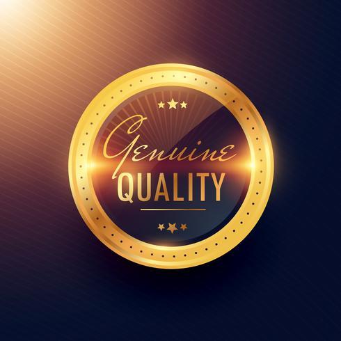design de etiqueta e distintivo de ouro premium de qualidade genuína