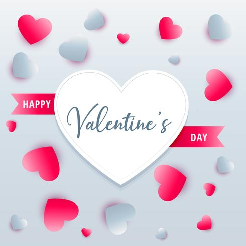 lovely hearts background valentine's day greeting