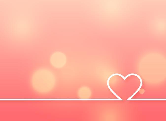minimal hjärta design på mjuk rosa bakgrund