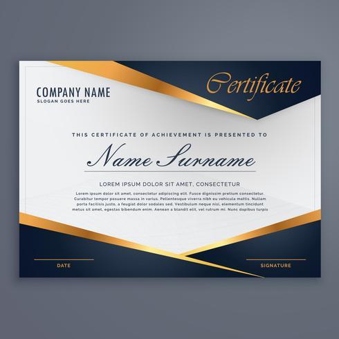modello di certificato di lusso diploma premium