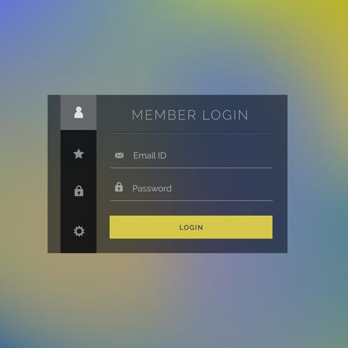 elegant member login form template design background