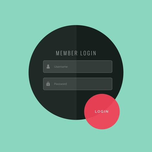 creative login form ui template design