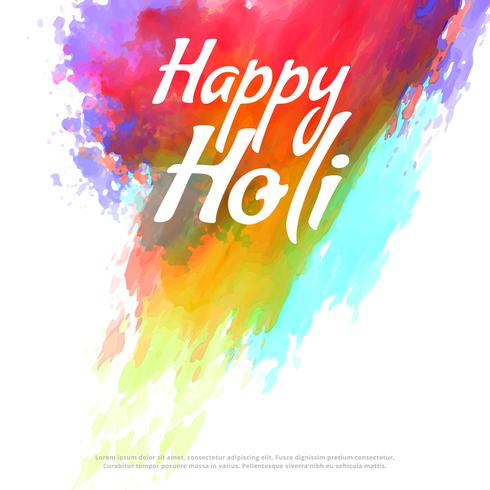 happy holi colorful splash background