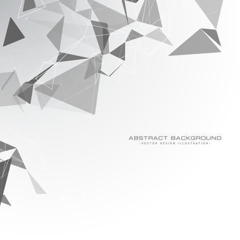 weißer Hintergrund mit Dreiecksformen