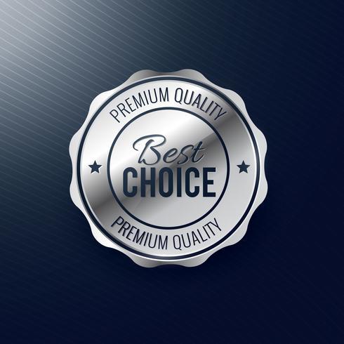beste keuze zilveren labelontwerp