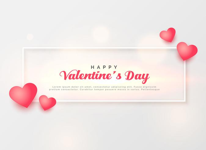 elegant valentine's day greeting template design