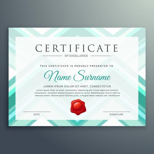 moderne blauwe certificaat ontwerpsjabloon