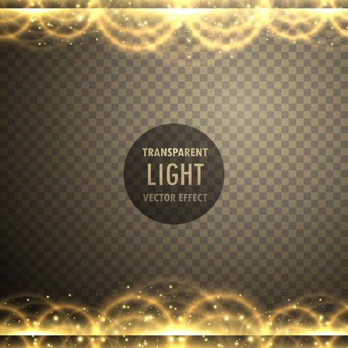 abstrait effet transparent lumière dorée