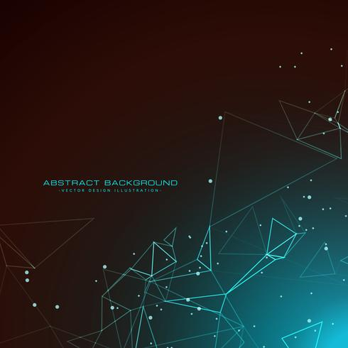 amazing technology background with digital wires mesh