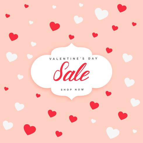 valentine's day sale poster design background