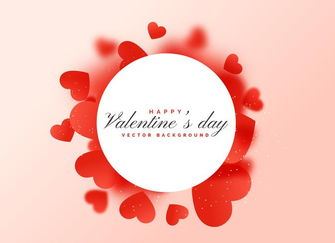 nice red scattered hearts background design