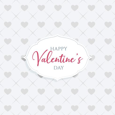 eleganter glücklicher Valentinstaggrußentwurf
