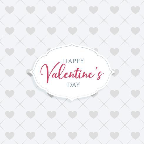 elegant happy valentine's day greeting design