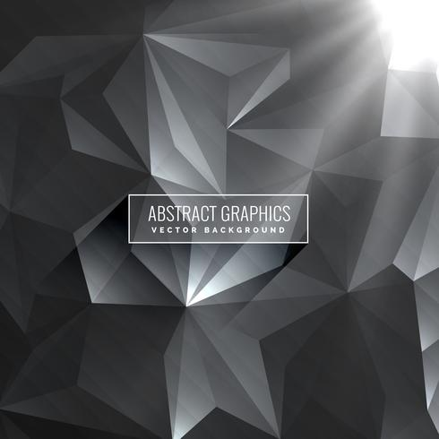 dark gray background made with poly shapes