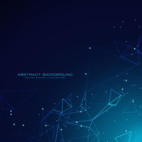technology digital particles background in blue color