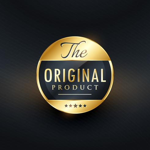 original product label vector design