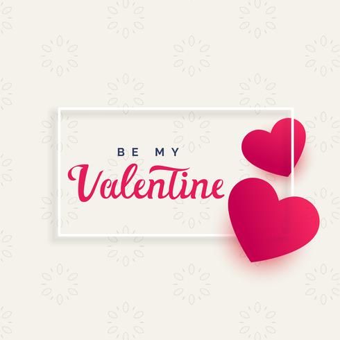 beautiful love hearts valentine's day background