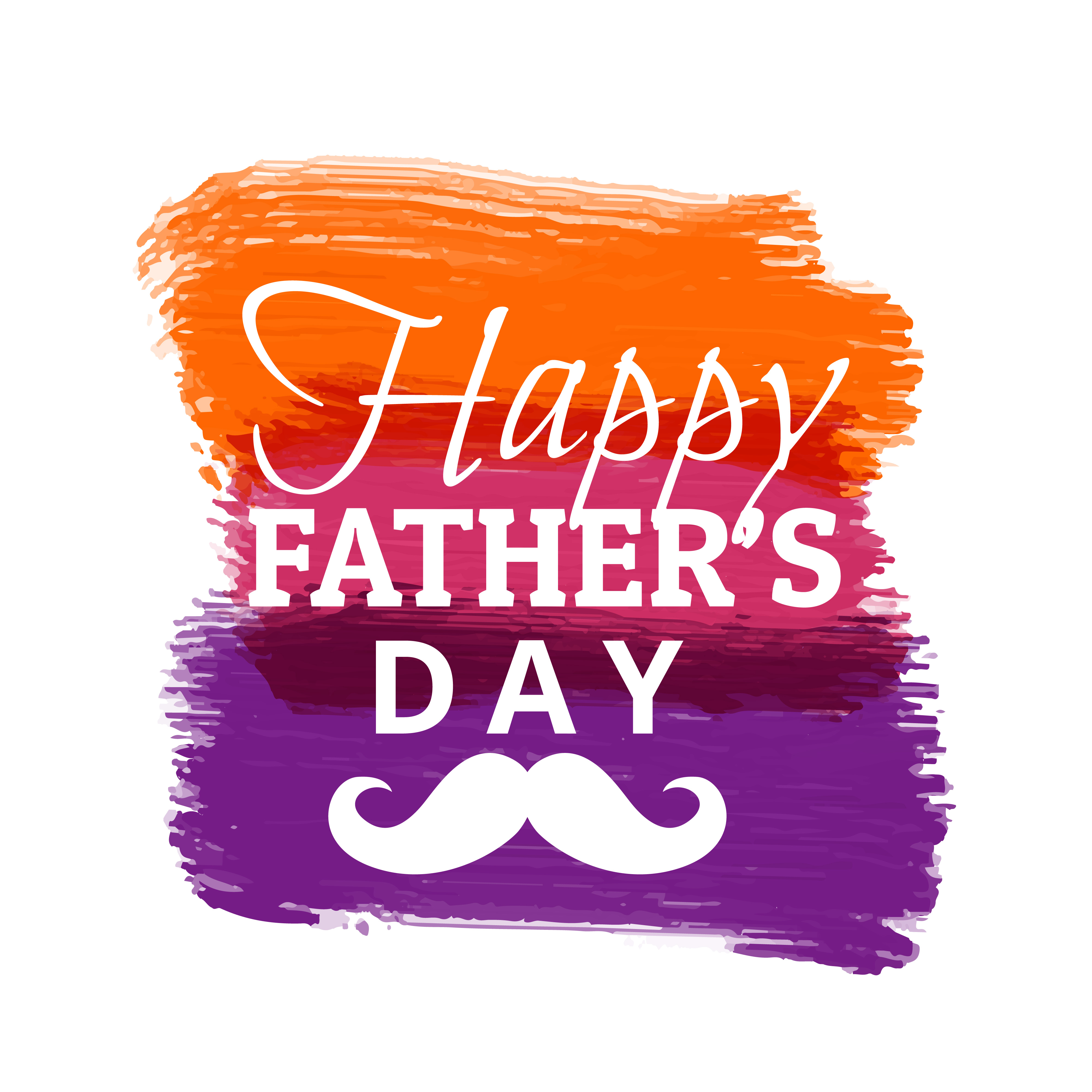 happy fathers day with colorful paint strokes - Download ...