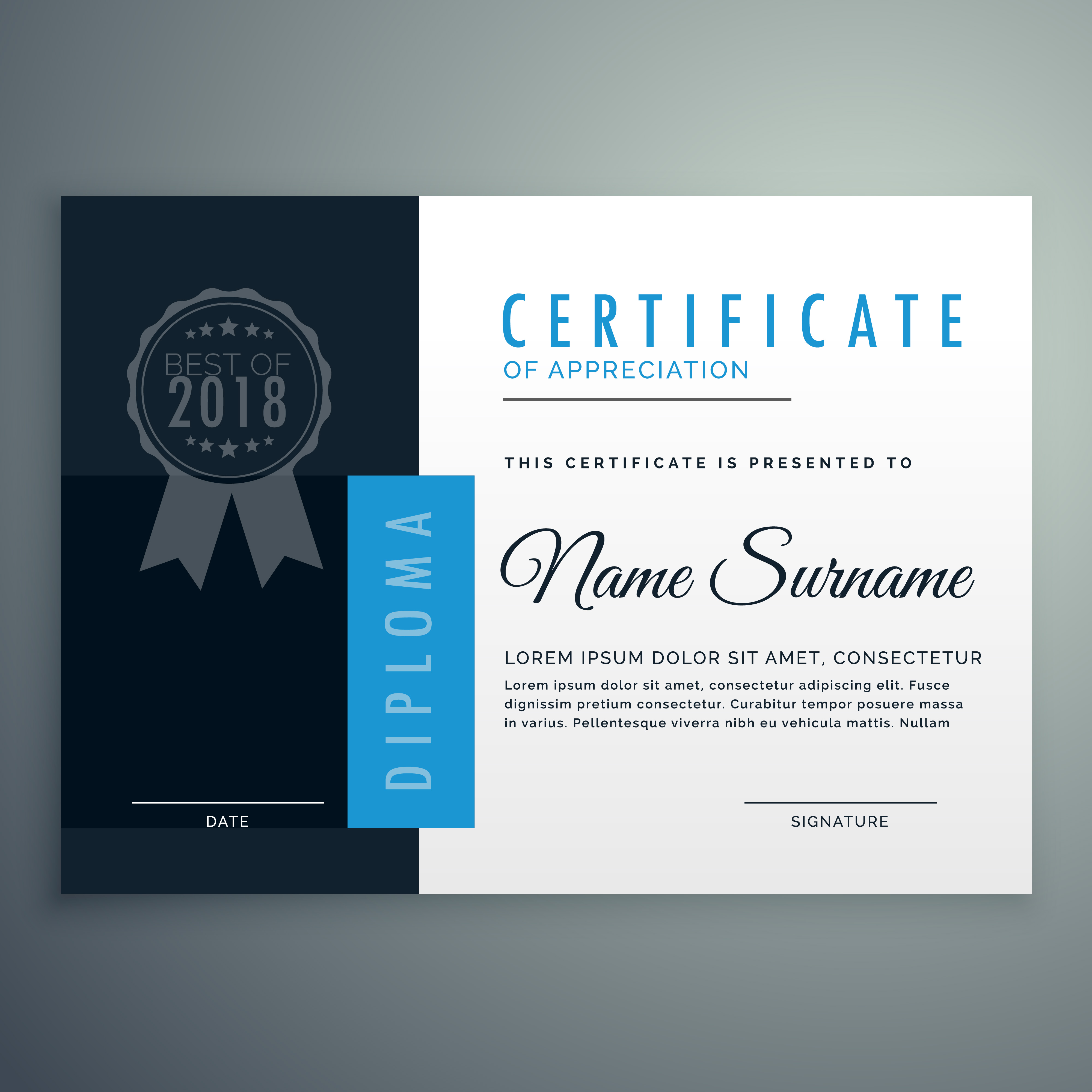 modern diploma certificate design - Download Free Vector ...