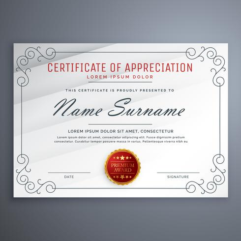 certificate design template with decorative border