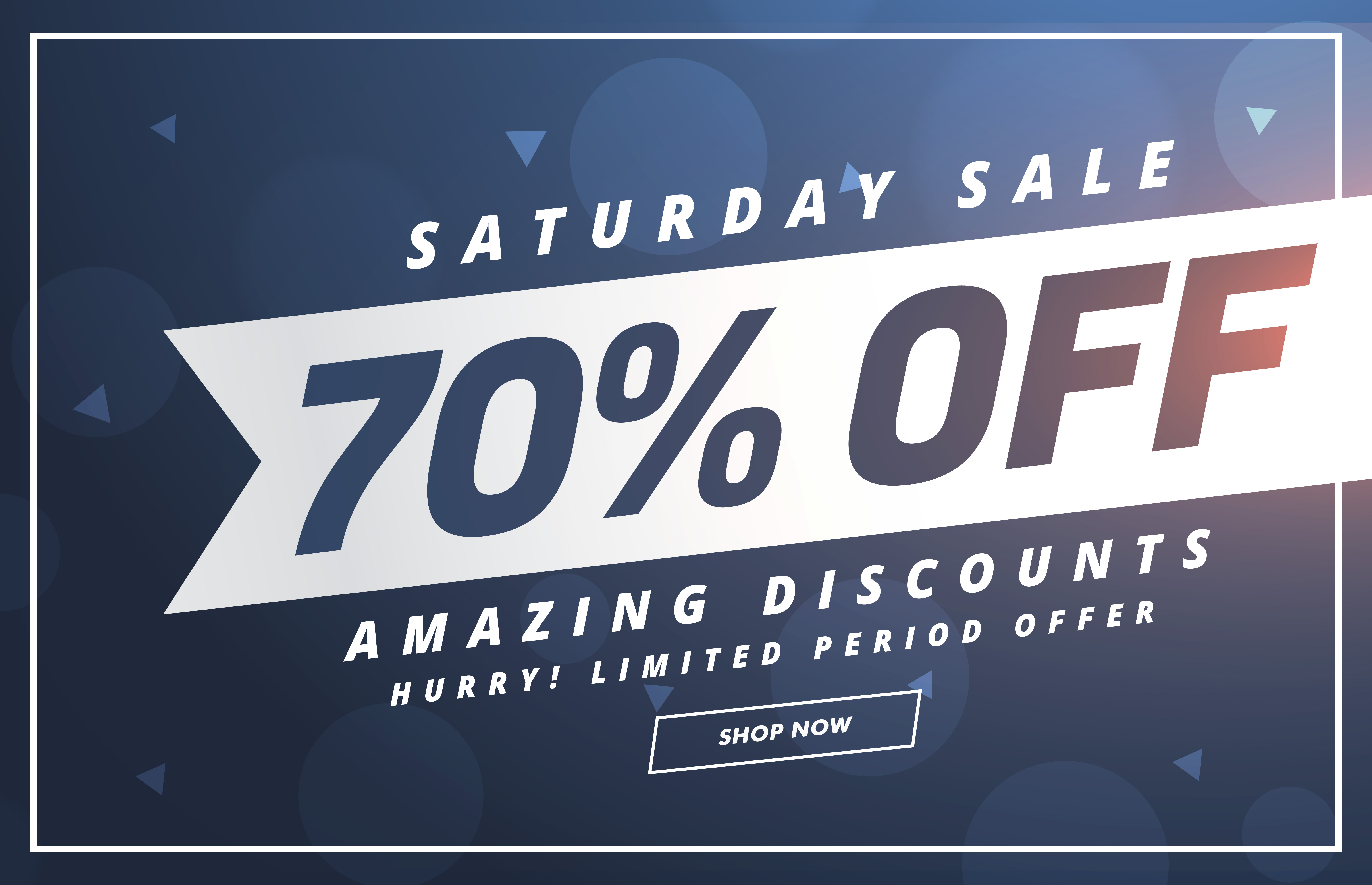 Amazing Saturday Discount And Offer Template Design