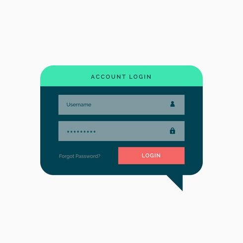 login template design in chat bubble style with flat colors