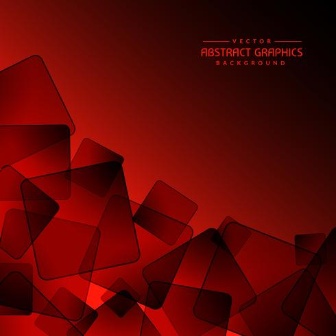 red background with abstract black square shapes