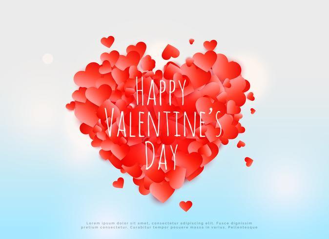 affiche créative de conception de carte de Saint Valentin