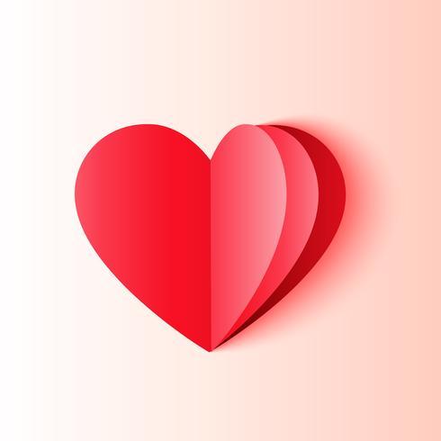 minimal origami style heart shape