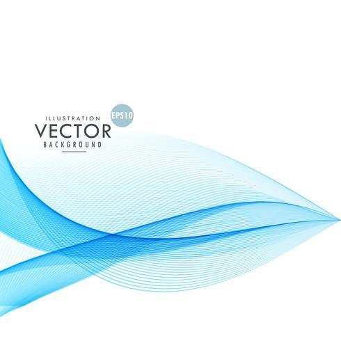 stylish blue wave lines background