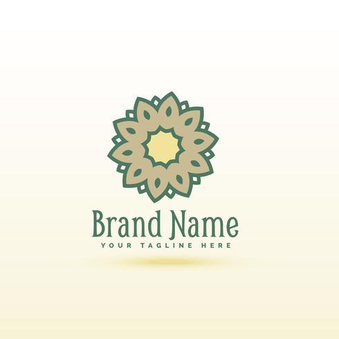 diseño de concepto creativo logotipo de la flor