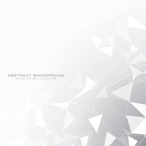 abstract gray background with triangles in white