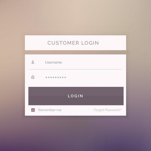 minimal login form template design for website and applications