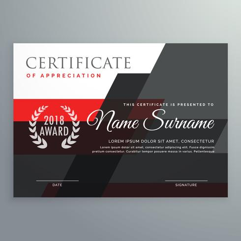 Modern certificate template design with geometric red and black modern certificate template design with geometric red and black yadclub Images