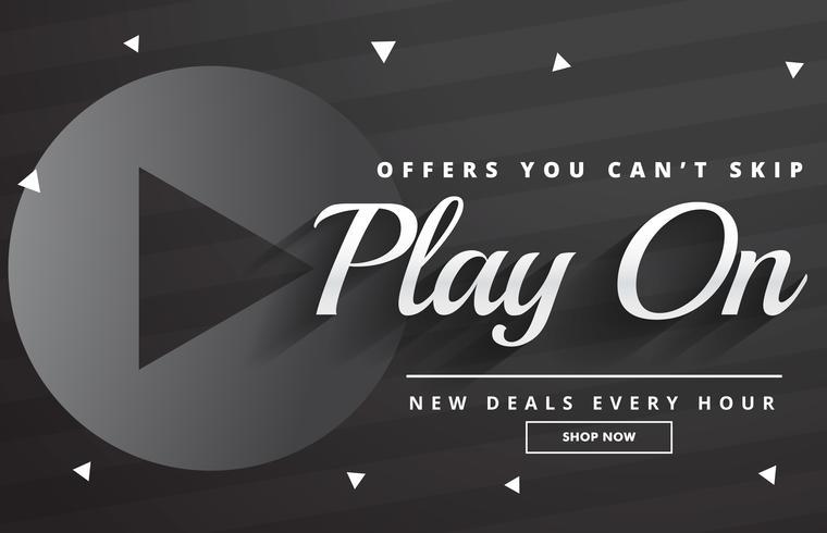 dark sale banner design with promotional details
