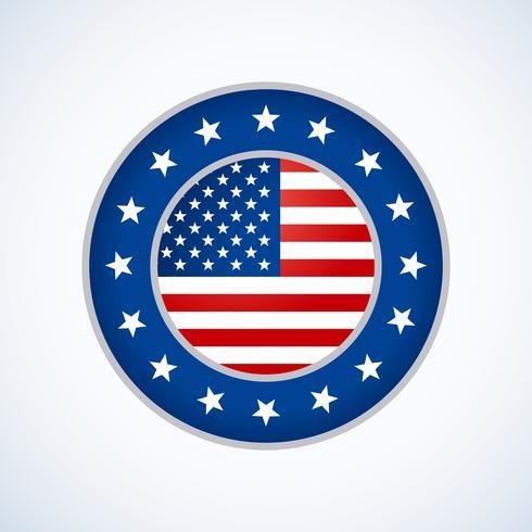 american flag badge design