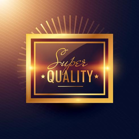 golden super quality label badge design