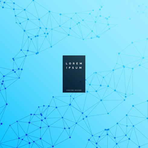 blue digital wireframe science background