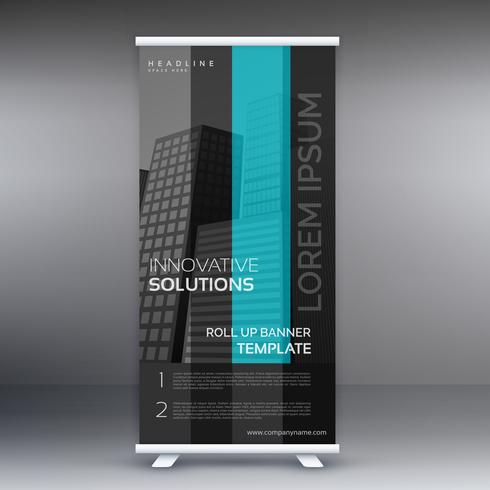 dark roll up banner presentation template