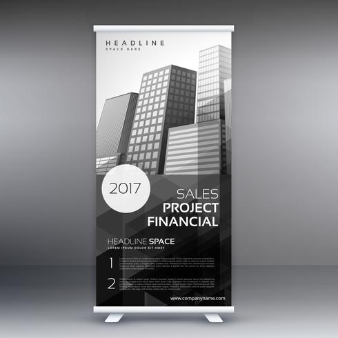 abstract roll up presentation banner template for advertising