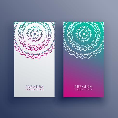 conception de bannière carte colorée mandala